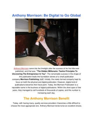 Anthony Morrison Hidden Millionaires Infomercial