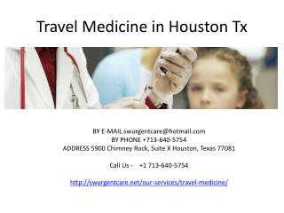 travel medicine in houston tx
