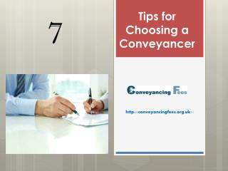7 Tips for Choosing a Conveyancer