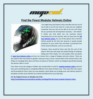 Find the Finest Modular Helmets Online