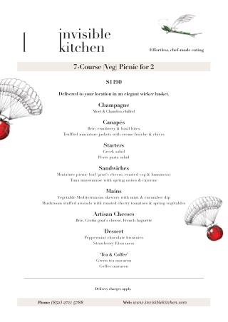 Catering Hong Kong | 7-Course (Veg) Picnic for 2