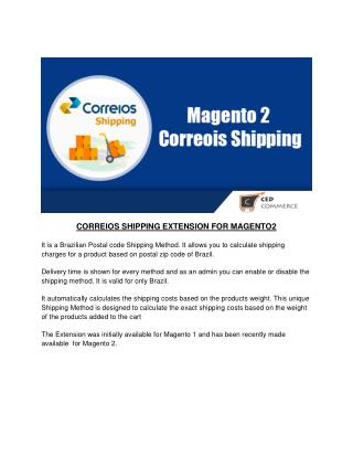 CORREIOS SHIPPING EXTENSION FOR MAGENTO