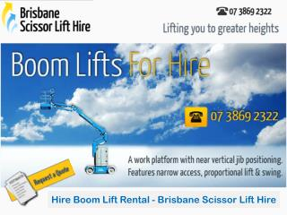 Hire Boom Lift Rental - Brisbane Scissor Lift Hire