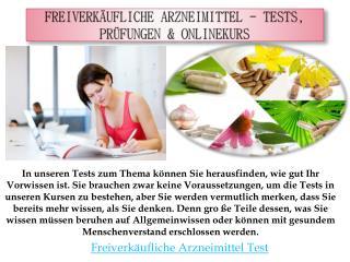 Freiverk�ufliche Arzneimittel - Tests, Pr�fungen & Onlinekurs