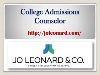 College Admissions Counselor - joleonard.com