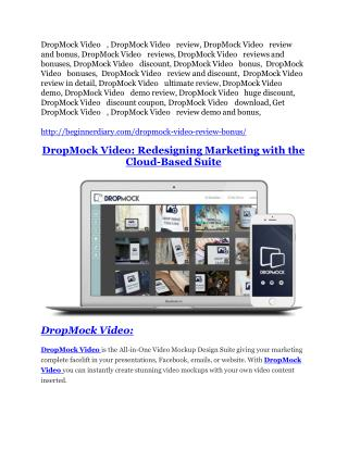 DropMock Video Review and DropMock Video (EXCLUSIVE) bonuses pack