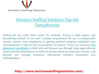 Horizons staffing solutions-Top Job Consultancies