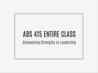 ABS 415 ENTIRE CLASS