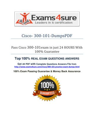 300-101 Exam Questions