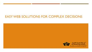 Easy Web Solutions for Complex Decisions