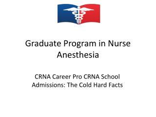 Graduate Program in Nurse Anesthesia
