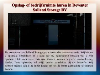 Opslag- of bedrijfsruimte huren in Deventer | sallandstorage.nl