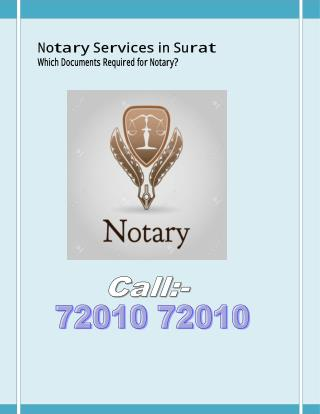 Which Documents Required for Notary ?