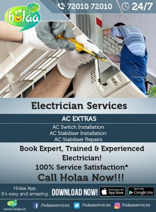 The Best Way To Electrician Services in Ahmedabad: HOLAA