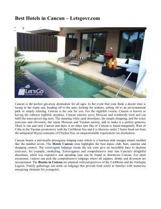Best Hotels in Cancun – Letsgovr.com