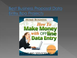Best Business Proposal Outsourcing Data Entry Projects
