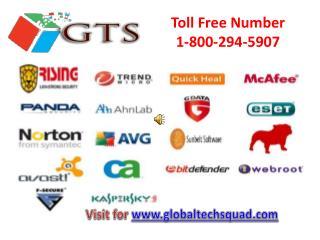 Antivirus Support |1-800-294-5907 Globaltechsquad.com