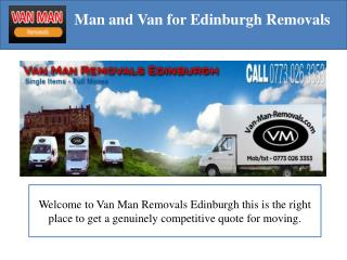 Van Man Removals in Edinburgh
