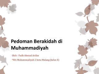 Pedoman Aqidah di Muhammadiyah