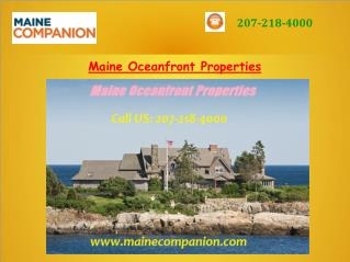 Maine Oceanfront Properties
