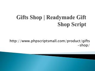 Gifts Shop | Readymade Gift Shop Script