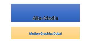 Motion Graphics Dubai