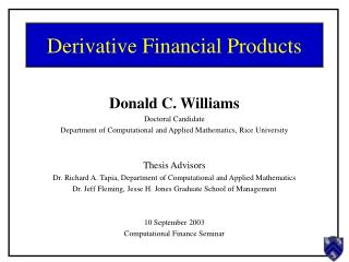 Derivative Financial Products