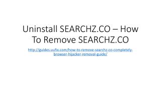 Uninstall searchz.co – how to remove searchz.co