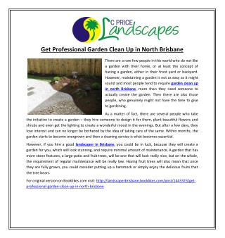 Get Professional Garden Clean Up in North Brisbane