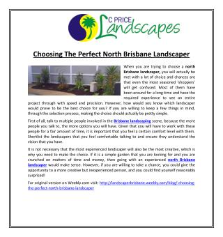 Choosing The Perfect North Brisbane Landscaper