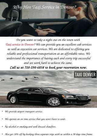 Taxi Service in Denver