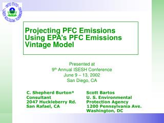 Projecting PFC Emissions Using EPA s PFC Emissions Vintage Model