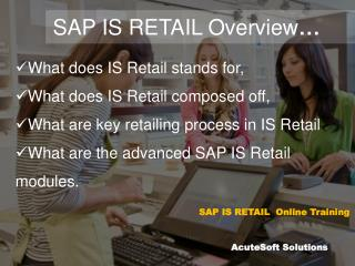 SAP IS RETAIL OVERVIEW