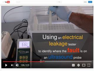 Using an electrical leakage tester to identify fault is on ultrasound probe