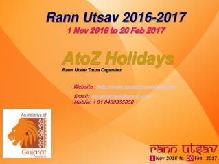 Rann Utsav 2016-17, Kutch Rann Utsav - RannUtsavOnline