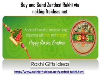 Celebrate this Rakhi with rakhigiftsideas by Send Zardosi Rakhi to Your Bro..!!