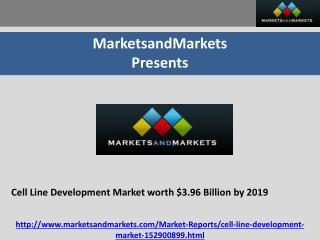 Cell Line Development Market worth $3.96 Billion by 2019