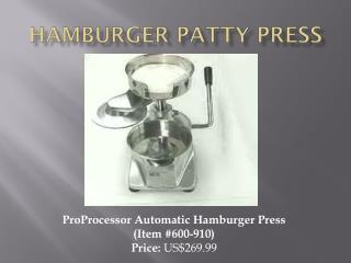 Hamburger Patty Press