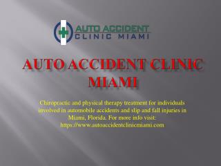 Auto Accident Clinic Miami