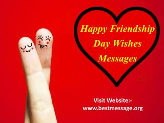 Happy Friendship Day 2016 Wishes | Friendship Love Messages