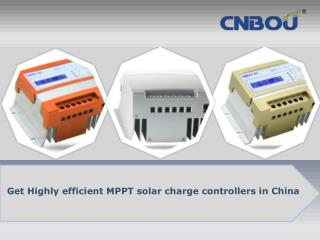 Get highly efficient mppt solar charge controllers in china