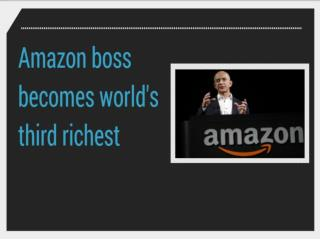 Amazon boss becomes world's third richest | CR Risk Advisory