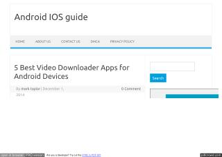 Best video downloader app for android
