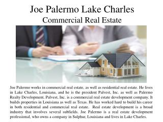 Joe Palermo of Lake Charles - Commercial Real Estate