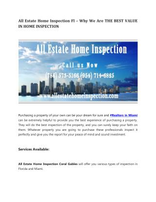 Home Inspections Miami Fl