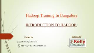 Best Hadoop training in Bangalore