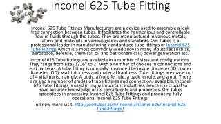 Inconel 625 Tube Fitting