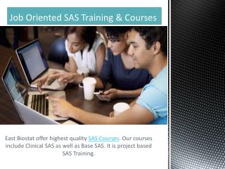 Job Oriented SAS Courses & SAS Training