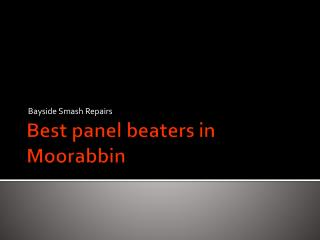 Best panel beaters in Moorabbin