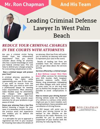Leading Criminal Defense Lawyer In West Palm Beach